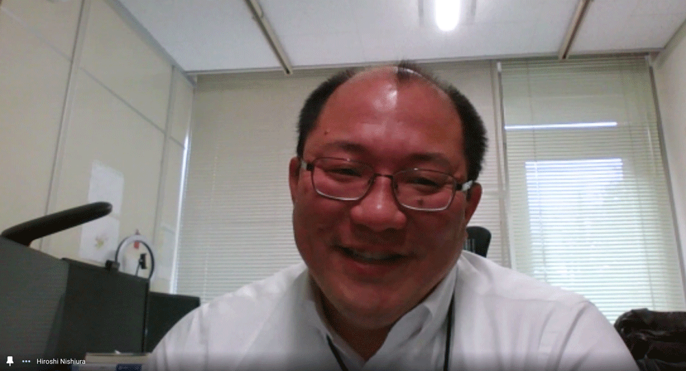 Dr. NIshiura at online interview